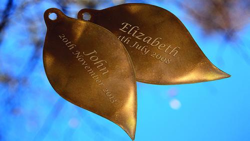 Memory Tree copper leaves