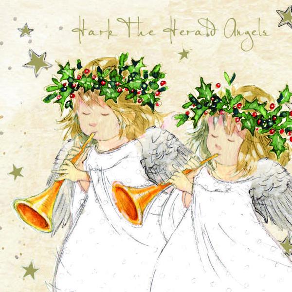 hark the herald christmas card phyllis tuckwell hospice care